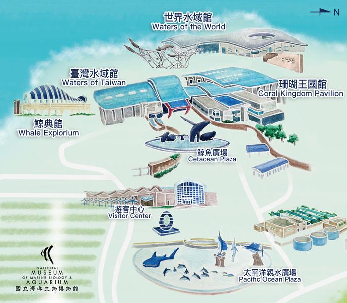 海生館展區平面圖