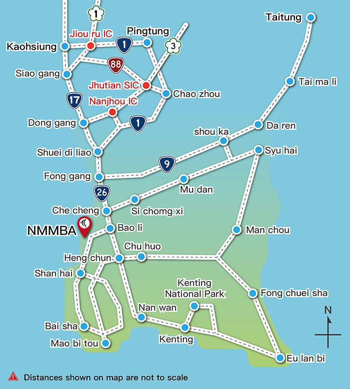 National Museum of Marine Biology and Aquarium-Directions by Car