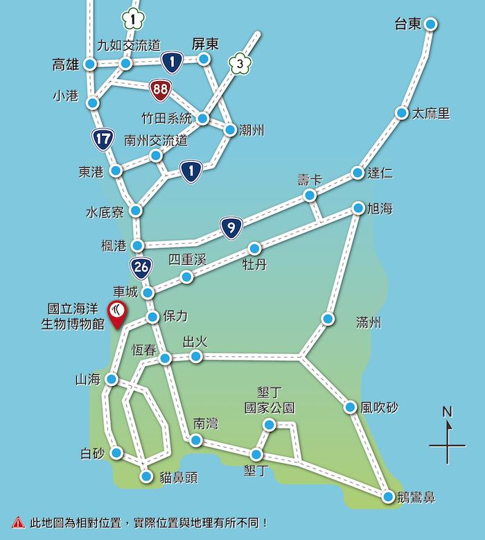 交通路線示意圖
