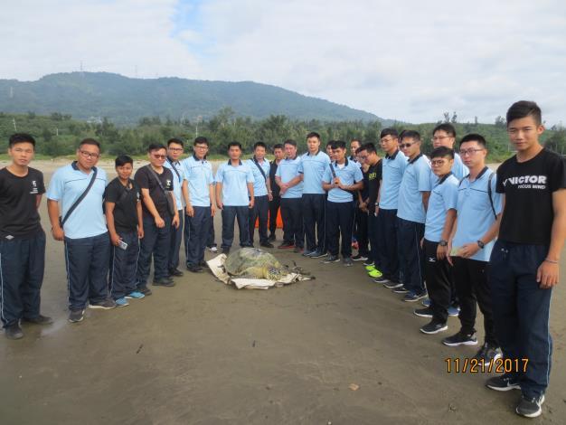 圖3-由第六海岸巡防總隊派員協助下野放海龜回大海.JPG
