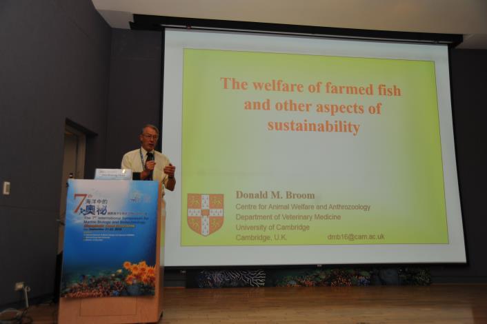 邀請講者  Professor Donald M. Broom