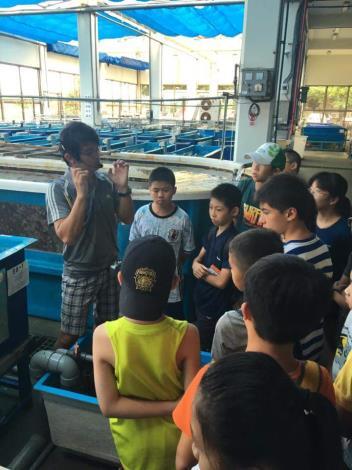 海洋教育中先參訪,珊瑚養殖場