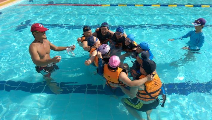 水上救生演練