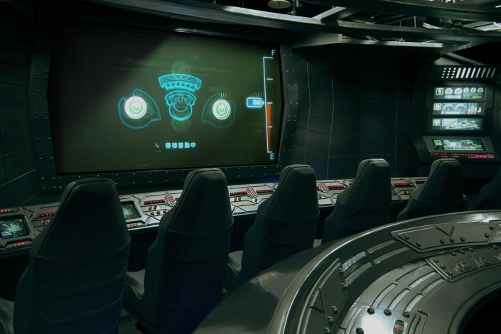 多人潛艇內部