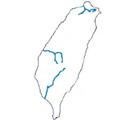 臺灣三大河川分佈示意圖