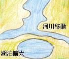 河成湖(廖逸涵 繪圖)