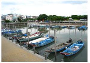 關渡沿岸漁業作業船隻(林永銘 攝影)